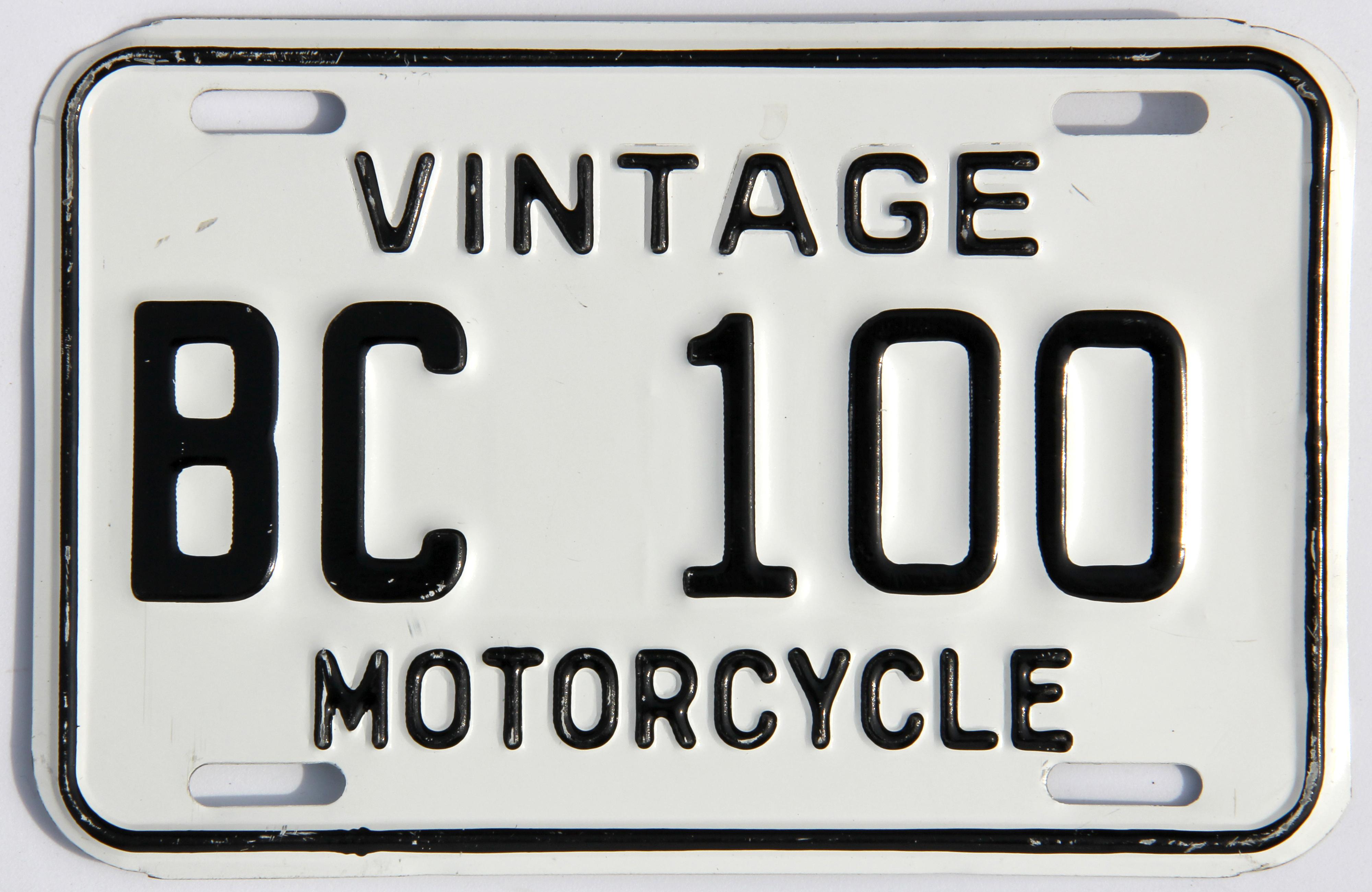 British Columbia Antique License Plates
