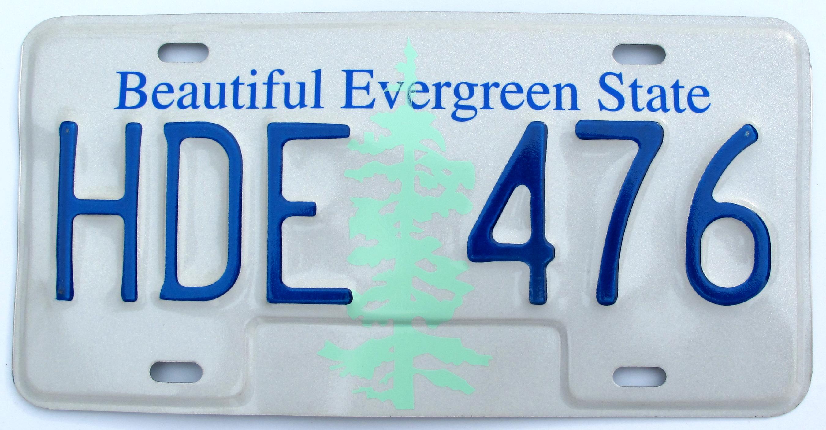 Beautiful evergreen state license plate piratebayreports Beautiful plates