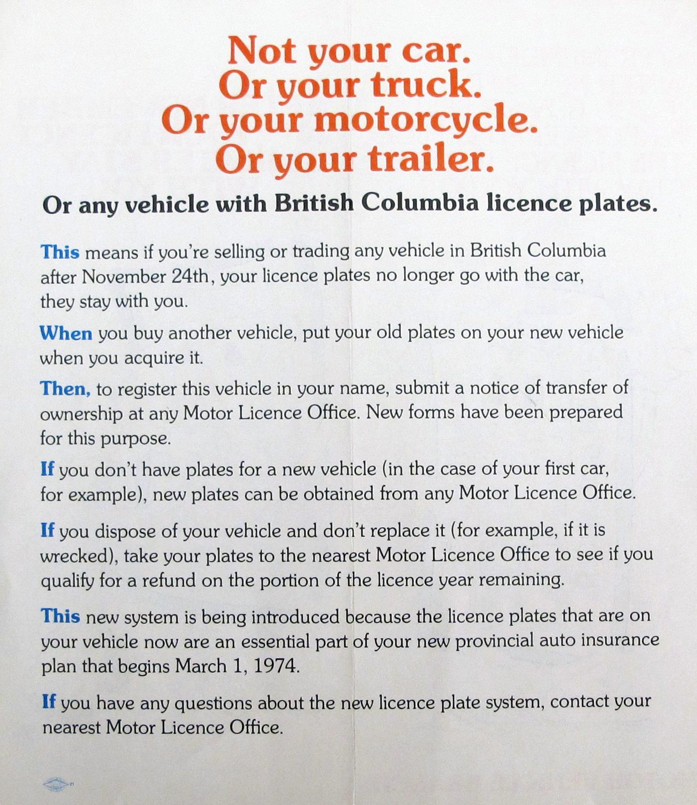 British Columbia Temporary Operating Permits